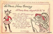 1909 Le Mars Iowa homecoming artist impression girl woman saying 2059