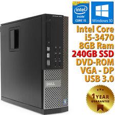 PC COMPUTER RICONDIZIONATO DELL 7010 SFF CORE i5-3470 RAM 8GB SSD 240GB WIN 10