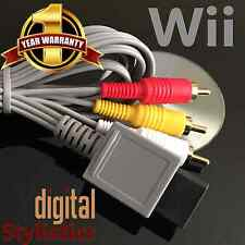 A/V Cable Cord (NEW) Nintendo Wii (AV Audio Video, 6 ft.)