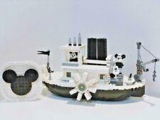 Mickey Minnie Building Blocks Steamboat Willie Ship Set Educational Kit Bricks