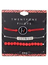 Twenty One 21 Pilots Band Blurryface Clique ID Bracelet 4 Pack Logo Charms NWT!