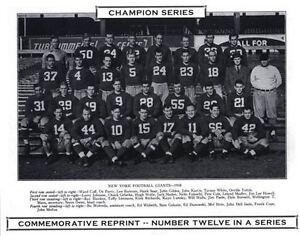 1938 New York Giants NFL Champion Photo HEIN POOLE