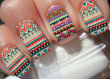 Aztec Print Nail Art Stickers Transfers Decals Set of 22
