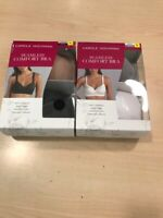 CAROLE HOCHMAN SEAMLESS COMFORT BRA WIRE FREE MOLDED CUPS 2 PACK NEW 2 combos