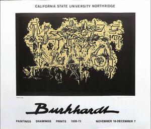 Hans Burkhardt Requiem For Basil Signed Exhibition Poster 23-1/4 x 27-1/2