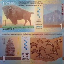FEDERATION OF NORTH AMERICA  2015 1 AMERO COMMEMORATIVE NOTE FROM A USA SELLER