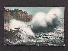 Vintage Postcard: Lanc: Blackpool #T37: Storm: Posted 1918