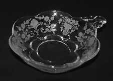 """PERFECT Vintage Duncan Miller """"FIRST LOVE"""" Etched NAPPY BOWL!!"""
