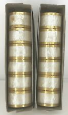 New listing Vintage Capiz Shell Mother of Pearl Napkin Rings Set of 12 New in Package