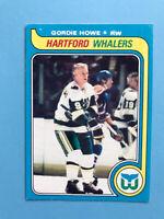 Gordie Howe 1979-80 O-Pee-Chee NHL Hockey Card #175  SEE PHOTOS Whalers