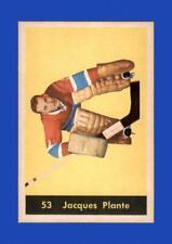 1960-61 Parkhurst Set Break #53 Jacques Plante NR-MINT *GMCARDS*