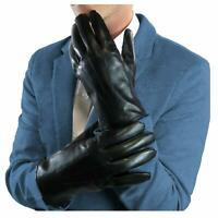 Genuine Leather Winter Touchscreen Men's Gloves With Rabbit Fur Lining X-LARGE