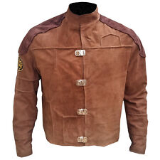 BattleStar Galactica Viper Pilot  Brown Cropped Suede Leather Jackets| All Sizes