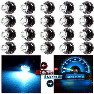 20x White T4.2 1SMD 1210 Instrument LED Light Bulb Neo Wedge Panel Gauge Lamp