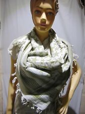 white greenScarf Arab ShemaghKeffiyeh Desert Heavyweight Military Kafiya Fashion