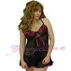 Sexy Nightwear Babydoll Chemise Plus Size 8-28 Lingerie G String Women Lace Set