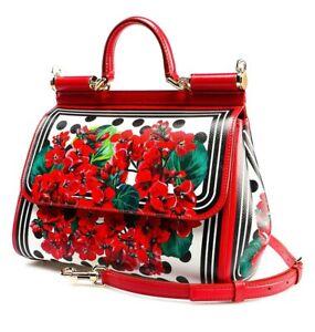 Dolce & Gabbana NEW Miss Sicily Red Portofino Polka Dot Italy Bag Purse $2395