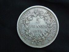 piece argent 5 francs hercule 1873 A  N°2