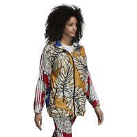 adidas ORIGINALS X FARM WOMEN'S GRAPHIC WINDBREAKER JACKET COAT