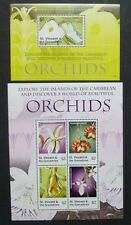 ST. VINCENT 2007 Orchideen Orchids Blume Flowers 6366-69 + Bl.676 ** MNH