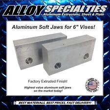 "1.5 x 3 x 6"" Extruded Aluminum Soft Jaws for 6"" Kurt Vise Chick Te-co Toolex"