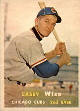 1957 Topps 396 Casey Wise RC EX #D350510