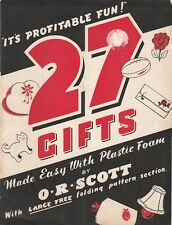 50s VINTAGE O.R.SCOTT CRAFT BOOK : 27 GIFTS MADE EASY + PATTERNS toys, novelties