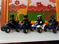 PLAYMOBIL LOTE POLICIAS QUAD CUATRICICLOS MOTOS POLICIA AGENTES AGENTE