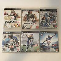 Madden Lot (Sony Playstation 3) PS3 Madden 11 12 13 25 15 16 6 Games