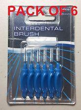 Paquete De 6 Cepillos Interdental 0.6mm cuidado dental hilo dental diente de dientes oral