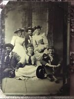Rare Tintype Of Old West Regulator Outlaw Dave Rudabaugh With Friends