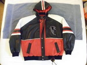 Carl Banks GIII G III G3 VINTAGE 90s jacket XXL 2XL ATLANTA FALCONS ALL LEATHER