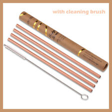 Pure Copper Straws Metal Straw Reusable Include 1 Cleaning Brush, BRAND NEW!!!!