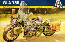 Harley Davidson WLA 750 US Army Bike Motorrad 1:9 Model Kit Bausatz Italeri 7401