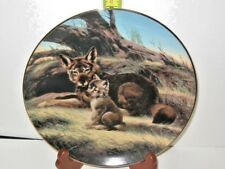 The Red Wolf By Will Nelson W.S. George Fine China Collector Plate 8719D
