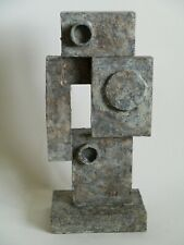 20th Century modernist sculpture abstract painted wood cubist influence Bill Low