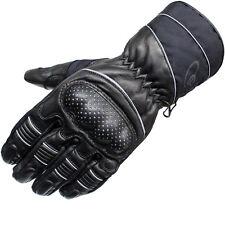 Black Vector Leather Motorcycle Motorbike Waterproof All Season Bike Gloves