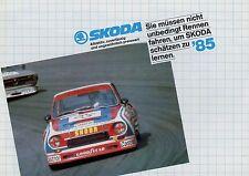 SKODA prospetto 1985 4 pag. 105 S L 120 L GLS 130 L Coupé auto prospetto opuscolo