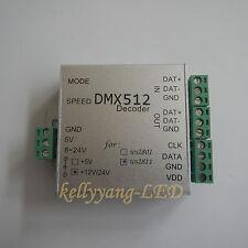 DMX Decoder To WS2811 LED Light SPI Converter 512 Output Max 170 Pixel 12V 24V