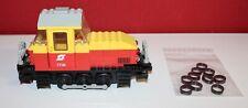 Lego Eisenbahn 7735 - 12V Lok wie abgebildet mit Ersatz Haftreifen