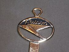 Vintage Ford Falcon Gold Plated Key w/ Emblem Crest Ford Blank Auto Accessory
