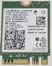 Intel Wi-Fi 6 AX200NGW 802.11ax/ac Wireless Bluetooth 5.0 WLAN Combo Card v2 W43