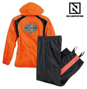Genuine Harley OEM Hi-Vis Womens Large Rain Suit Gear Waterproof Jacket Pant Set