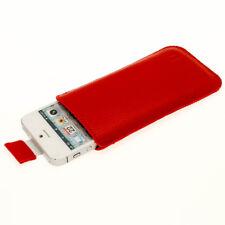 Rosso Pelle Custodia per Nuovo Apple iPhone 5 5s 5c cellulare se 4g LTE Cover