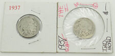 Lot of 2 1937 Indian Head Buffalo Nickels--Very Nice Condition