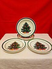 "Totally Today Christmas Tree China 7"" Salad Dessert Plates Set Of 4"