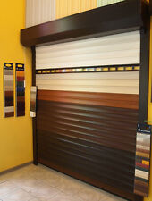 Roller Garage Door, electric operated with remote control, 77mm profiles