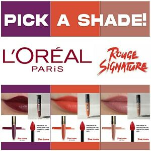 PICK YOUR L'Oreal Paris Makeup ROUGE SIGNATURE Matte Lip Stain .23 fl oz 7.0 ml