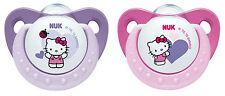 NUK Trendline Silikon-Schnuller Hello Kitty Größe 1 (0-6Monate) neu&ovp
