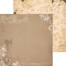 BoBunny 12x12 Scrapbooking paper, Heritage Collection, Heritage x 2 sheets